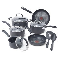 T-fal E918SA Ultimate Hard Anodized Durable Nonstick Expert Interior Thermo-Spot Heat Indicator...