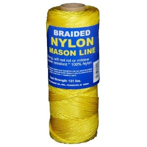 T.W. Evans Cordage 12-501 Number 1 Braided Nylon Mason Line with 500 ft. in Yellow