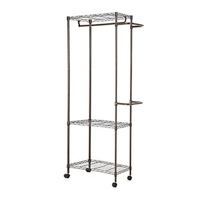 Livens Dress Room Hanger Rack 3 Stage Brown [海外直送品]