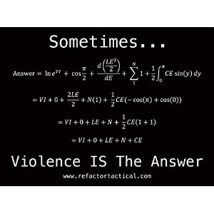 Re Factor Tacticalステッカー–Violence Is the Answer、