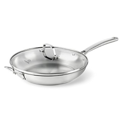 Calphalon Classic Stainless Steel Cookware, Fry Pan, 12-inch with Lid by Calphalon