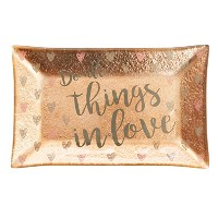 Trinket Dish , Do All Things in Love、メタリックゴールドガラス