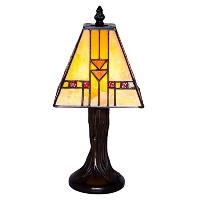 River of Goods 14909 Craftsman Stained Glass Mini Mission Accent Lamp, 11' [並行輸入品]