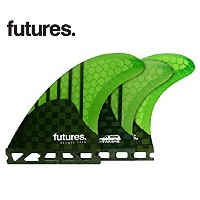FUTURE FINS フューチャーフィン RTM HEX STAMPS 5FIN スタンプ5FIN ショートボード用 トライクアッドフィン (green)