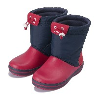 【crocs】 クロックス crocband lodgepoint boot kids クロックスバンド ロッジポイント ブーツ キッズ 203509-485 Navy/Red
