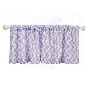 Sweet Potato Swizzle Window Valance, Purple/White by Sweet Potatoes