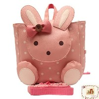 MSM Original Safety Harness, Anti-lost Backpack (PU Rabbit Light Pink) by My Share Mall