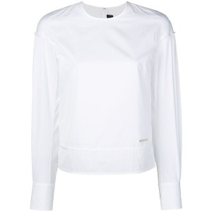 Dsquared2 - long-sleeved fitted top - women - コットン - 42