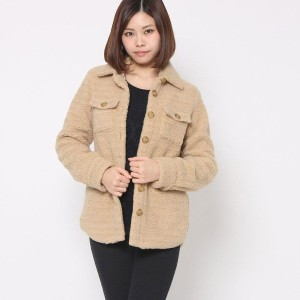 【SALE 76%OFF】オペーク  OPAQUE outlet HARVEY FAIRCLOTH ボアショートコート (ベージュ)