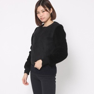 【SALE 73%OFF】オペーク  OPAQUE outlet ウールムートンブルゾン (ブラック)