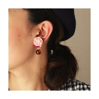 patterie  BUTTON SPANGLE EARRING(PR17SS-AC-P001193-E) pink 【三越・伊勢丹/公式】 アクセサリー~~イヤリング