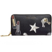 マークジェイコブス 長財布 M0012585 MARC JACOBS Tossed Charms Saffiano Standard Continental Wallet ( BLACK...