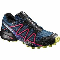 サロモン レディース 陸上 シューズ・靴【Salomon Speedcross 4 GTX Shoe】Poseidon / Virtual Pink / Sunny Lime