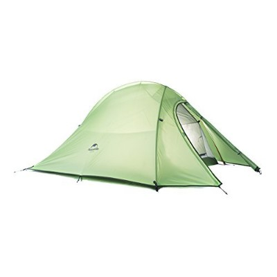 Naturehike 2人屋外テント二重層テント防水キャンプテント軽量テント (Green (210T checked fabric))