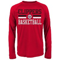 NBA Clippersパフォーマンス長袖Tee レッド