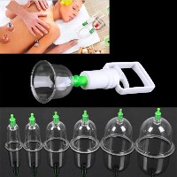 Vacuum Cupping Device Vacuum Pull Cylinders Cupping Kit Body Suction Health Massage Therapy 12pcs