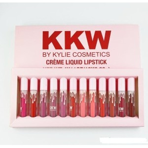 KKW Lip Gloss Kylie Jenner Cosmetics 12 PCS Kylie Lipstick Kit Long-Lasting Makeup
