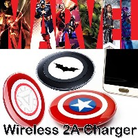 [Avengers Edition] Wireless Charger Qi based/ Captain America/ Batman/ Arc Nuclear Charging Pad for...