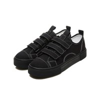 [FLAAC] AA 101 Velcro Sneakers BLACK ロウ塔スニーカー