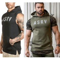 ASRV Soldier Style sleeveless top hoodie fashion muscular army