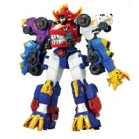 [TUBAn] Dino Core Ultra Diverster Tirano stages combining transformable robot New