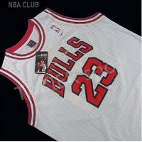 Bulls 23 Michael Jordan basketball jersey conventional white dress