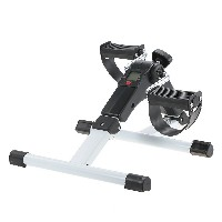 TOMSHOO Folding Pedal Exerciser Fitness Peddler Arm Leg Machine Mini Bike Cycle with Electronic LCD