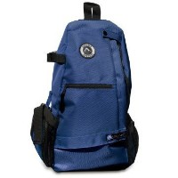 Aurorae Yoga Multi Purpose Cross-body Sling Back Pack Bag. Mat sold separately. Blue Solid
