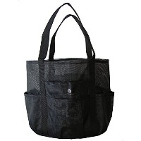 (Saltwater Canvas  LLC) Black Whale Bag  Giant Mesh Family Beach Bag Tote  9 pockets  10 colors