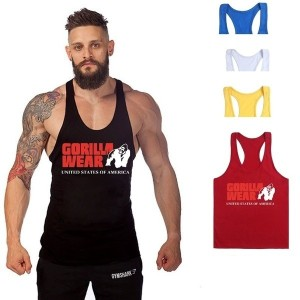 Tank Top Men Gym Brand Sleeveless Muscle Men Singlet Clothing US Size XS-L