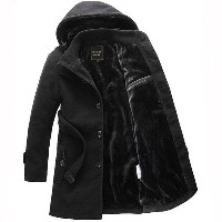 Men s jacket Winter heat preservation and long hair coat (Delivery code for Asian code)