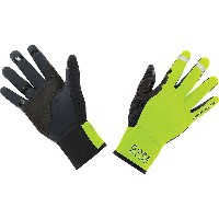 ゴア メンズ 自転車 グローブ【Gore Bike Wear Universal Gore Windstopper Glove】Neon Yellow / Black