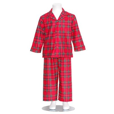 Boys Red Plaid Flannel Christmas Pajamas Toddler Boys 4T by Tom and Jerry
