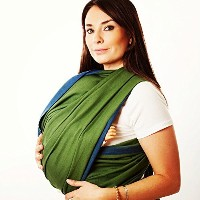 Woven Wrap Baby Carrier for Infants and Toddlers (Fern) by Hip Baby Wrap