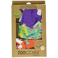 Zoocchini Girls 3 Piece Organic Underwear Set (5-6 Years, Enchanted Forest) by Zoocchini