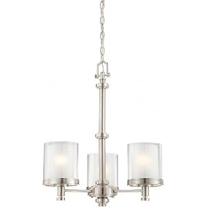 Nuvo 60/4647 Decker Brushed Nickel Three Light Chandelier by Nuvo