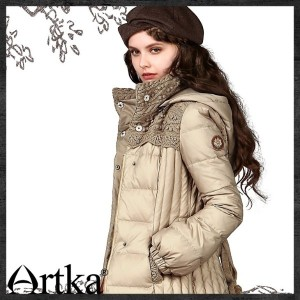 Artka Fashion Women Down Coat 2016 New White Duck Down Jacket Yk12247d