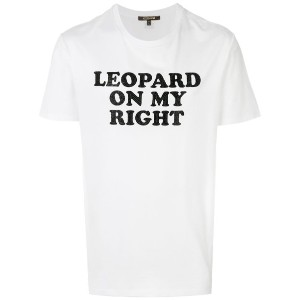 Roberto Cavalli - Leopard On My Right Tシャツ - men - コットン/レザー - M