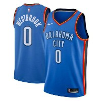 Russell Westbrook Oklahoma City Thunder Nike NBA Swingman Basketball Jersey メンズ Blue NBA ナイキ バスパン...
