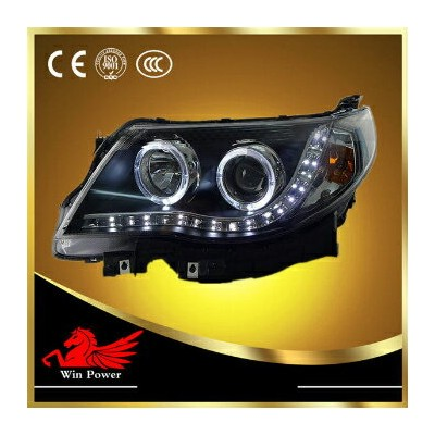 スバル フォレスター ヘッドライト For 2008-2012 Subaru Forester Headlight with Bi-xenon Projector and Angel Eye V2...