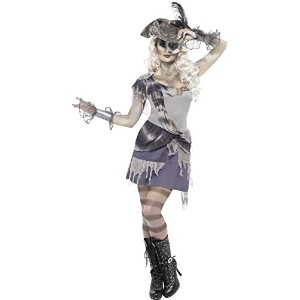 Smiffys Women's Grey/Purple Madame Voyage Costume - Us Dress 10-12
