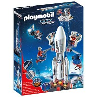 PLAYMOBIL (プレイモービル) Space Rocket with Launch Site Building Kit(並行輸入品)