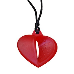 KidKusion Gummi Teething Necklace Heart, Red by KidKusion [並行輸入品]
