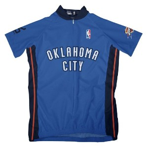 NBA Oklahoma City ThunderレディースShort Sleeve Away Cycling Jersey XL