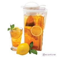 Praticoキッチン低プロファイルTea Pitcher with Removable Tea Strainer