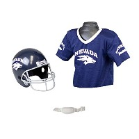 Franklin Sports NCAA Nevada WolfpackユースチームHelmet and Jersey Set