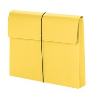 Two Inch Expansion Wallet with String, Letter, Yellow, 10/BX (並行輸入品)