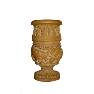 Made with wooden Material Pen Stand in Fine Finishing Carving Work by Bharat Haat BH01200