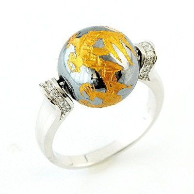 One&Only Jewellery テラヘルツ 鉱石 龍彫 大粒 リング 指輪(11号)