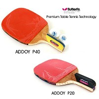 New Butterfly ADDOY P20 + P40 Table Tennis Racket Penholder Paddle Ping Pong 2 Racket & Ball...